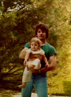 Dad and me, ca. 1978. This was not a surprising photo to find stashed in a box of family snapshots... But there is one that was...